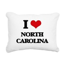 I Love North Carolina Rectangular Canvas Pillow