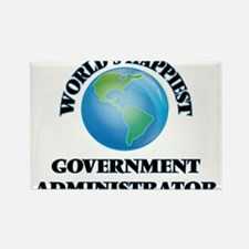 World's Happiest Government Administrator Magnets