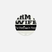 Army Wife Ooo in Hooah_Black Mini Button (10 pack)