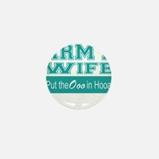 Army Wife Ooo in Hooah_Teal Mini Button (10 pack)