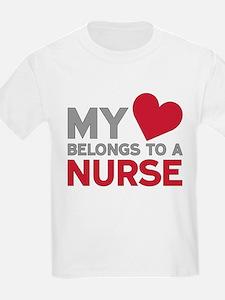 My Heart Belongs to A Nurse T-Shirt