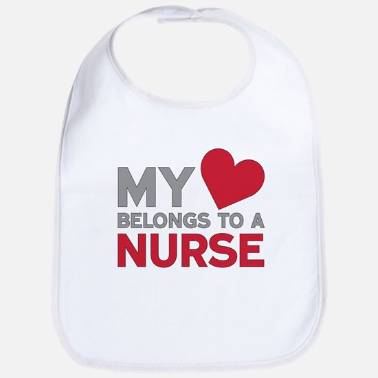 My Heart Belongs to A Nurse Bib