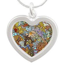Organics Silver Heart Necklace