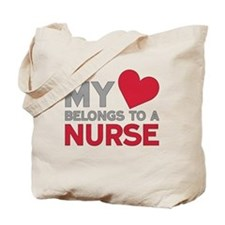 My Heart Belongs to A Nurse Tote Bag