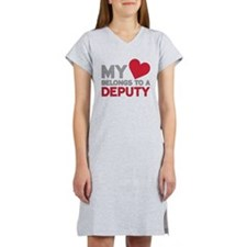 My Heart Belongs to A Deputy Women's Nightshirt