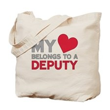 My Heart Belongs to A Deputy Tote Bag