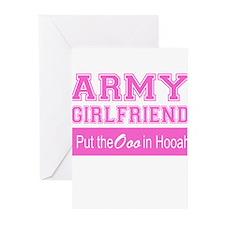 Army Girlfriend Ooo in Hooah_Pink Greeting Cards