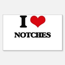 I Love Notches Decal