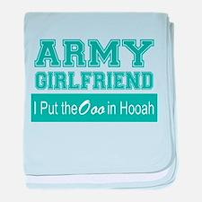 Cool Army girlfriend baby blanket