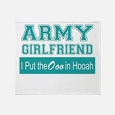 Funny Army girlfriend Throw Blanket