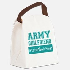 Funny Army girlfriend Canvas Lunch Bag
