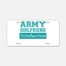 Funny Army girlfriend Aluminum License Plate