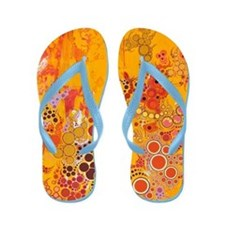 summer of the rted sun Flip Flops