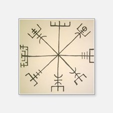 "Asatru Compass Square Sticker 3"" x 3"""