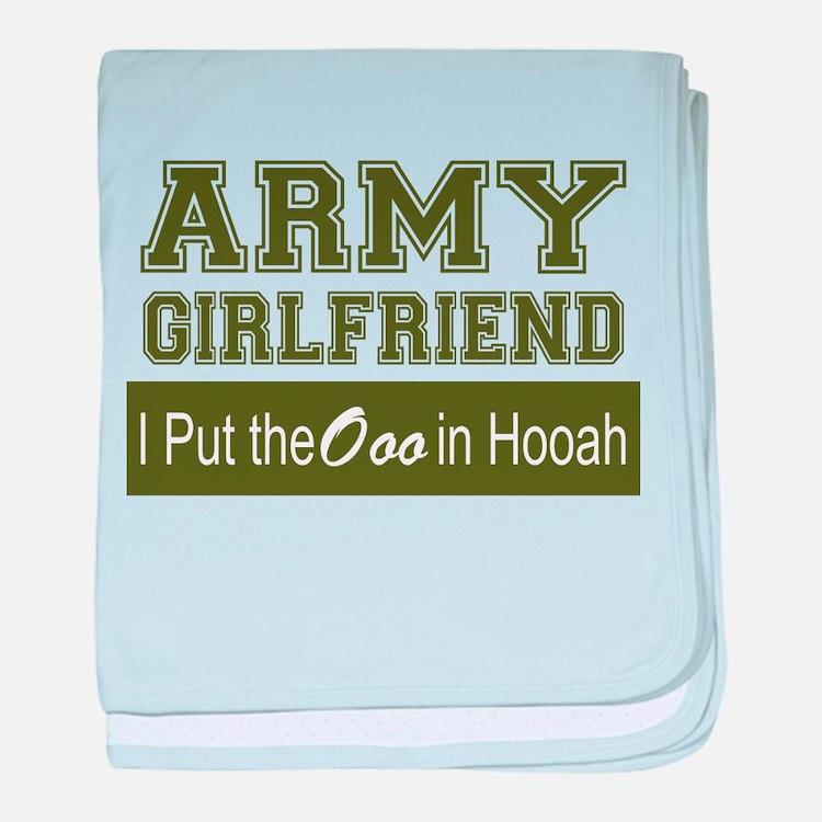 Cute Army girlfriend baby blanket