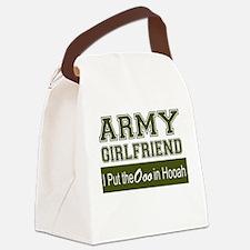 Cute Army girlfriend Canvas Lunch Bag