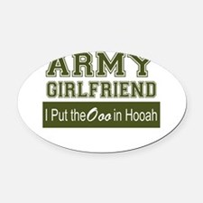 Unique Army girlfriend Oval Car Magnet