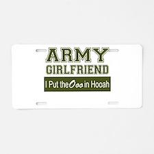 Unique Army girlfriend Aluminum License Plate
