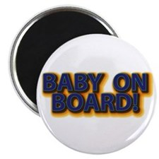 Baby on Board - Blue Magnet