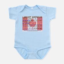 """""""I am not American"""" Canadian flag Infant Creeper"""