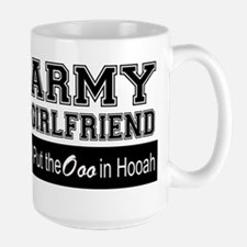 Army Girlfriend Ooo in Hooah_Black Mugs