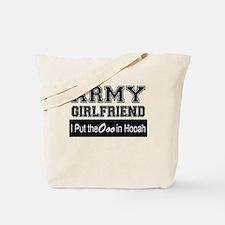 Army Girlfriend Ooo in Hooah_Black Tote Bag