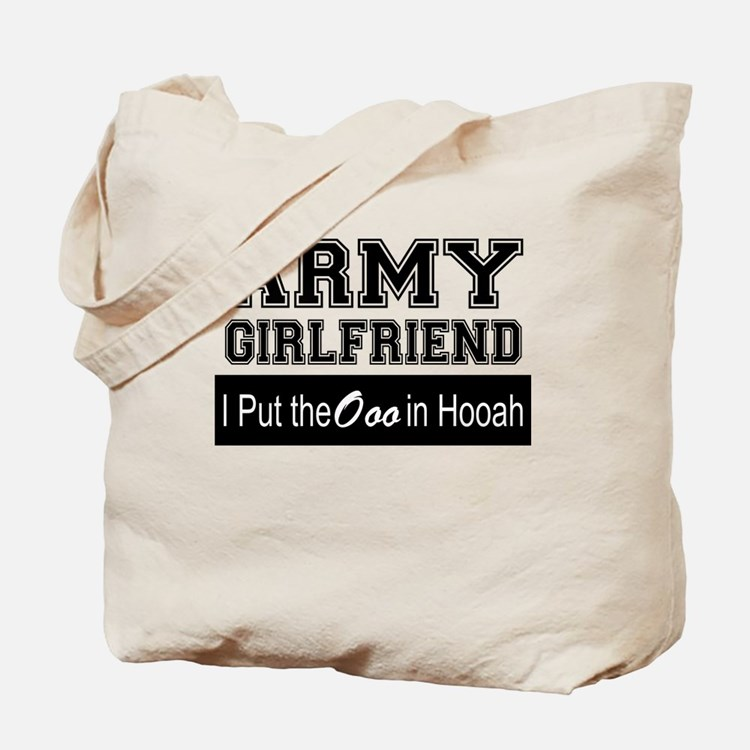 Army Girlfriend Ooo in Hooah_Black Tote Bag