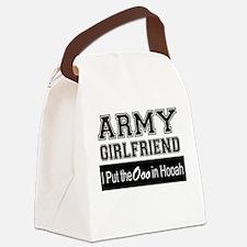 Army Girlfriend Ooo in Hooah_Blac Canvas Lunch Bag