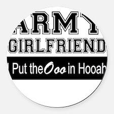 Army Girlfriend Ooo in Hooah_Blac Round Car Magnet