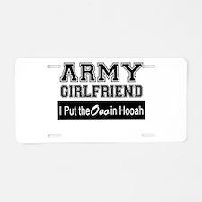 Army Girlfriend Ooo in Hooa Aluminum License Plate
