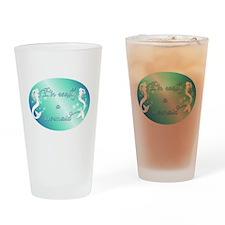 Im really a mermaid Drinking Glass