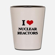 I Love Nuclear Reactors Shot Glass