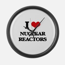 I Love Nuclear Reactors Large Wall Clock
