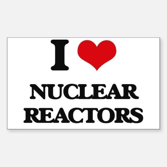 I Love Nuclear Reactors Decal