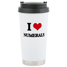 I Love Numerals Travel Mug