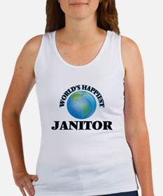 World's Happiest Janitor Tank Top