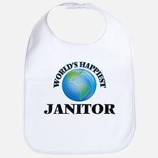 World's Happiest Janitor Bib