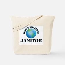 World's Happiest Janitor Tote Bag