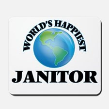 World's Happiest Janitor Mousepad