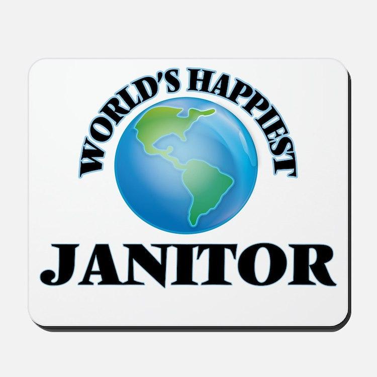 World's Happiest Janitor Mousepad
