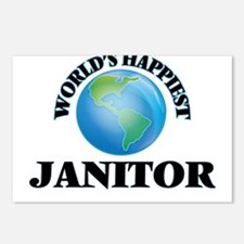 World's Happiest Janitor Postcards (Package of 8)