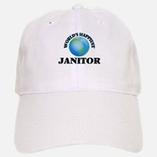 World's Happiest Janitor Baseball Baseball Cap