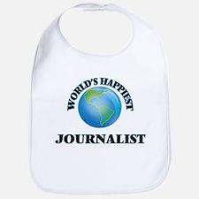 World's Happiest Journalist Bib