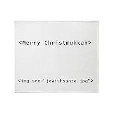 geekchristmukkah.png Throw Blanket