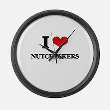 I Love Nutcrackers Large Wall Clock
