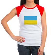 Ukranian Flag Women's Cap Sleeve T-Shirt
