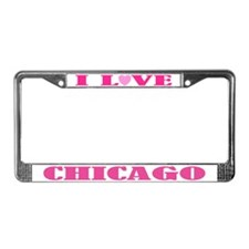 I Love Chicago License Plate Frame