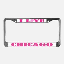 I Love Chicago License Plate Frame