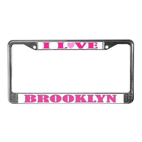 I Love Brooklyn License Plate Frame