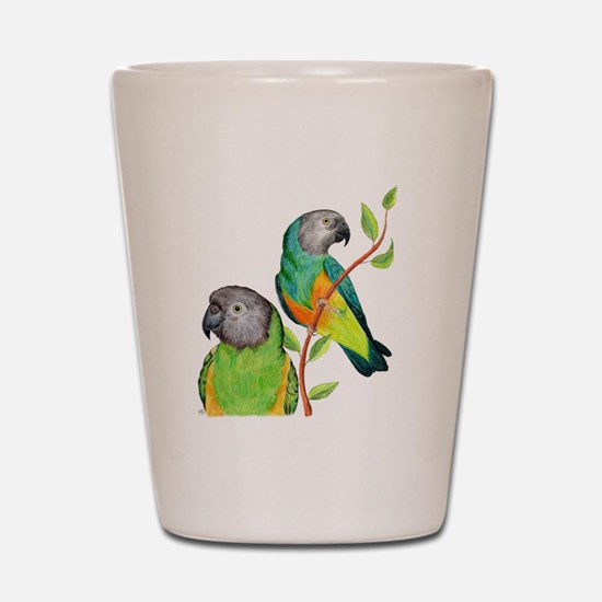 Senegal Parrots Shot Glass